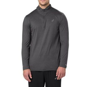 ASICS men's Long Sleeve Hoodie size L gray.